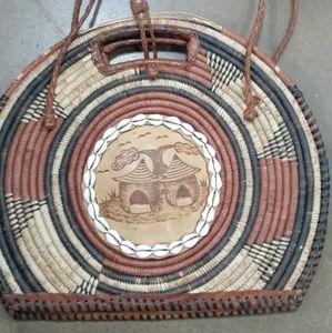 African handwoven bag unique design